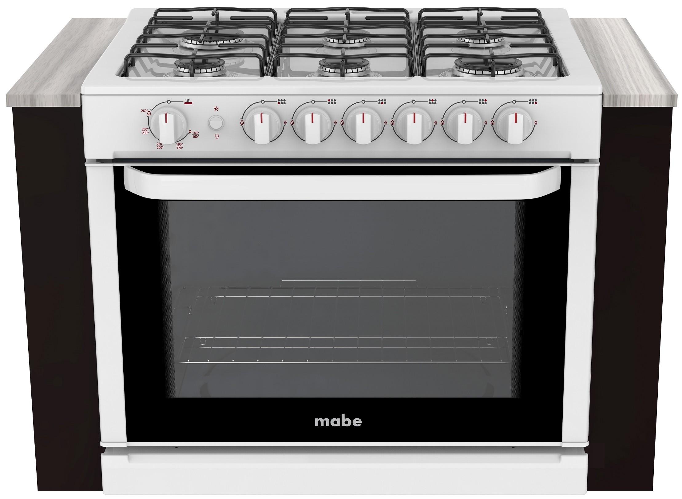 Intermuebles estufa de gas marca mabe color blanco 80cm for Estufa profesional
