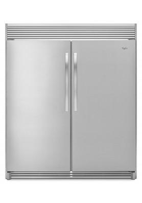 Pareja de refrigerador y congelador Whirlpool (WSR57R18DM + WSZ57L18DM + SKT60M)